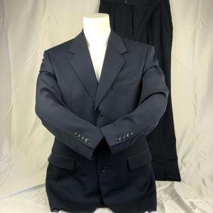 Jones New York Navy Blue Full Suit Jacket & Pants